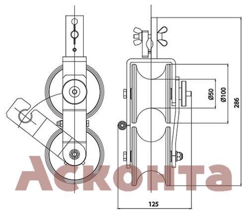 Ролик ABR053 Тесмек (Tesmec)