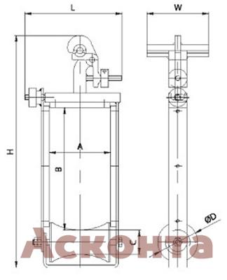 Ролик ABR045 Тесмек (Tesmec)
