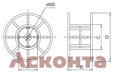 Размеры БСФ1100 стальной фиксированный барабан для троса лидера