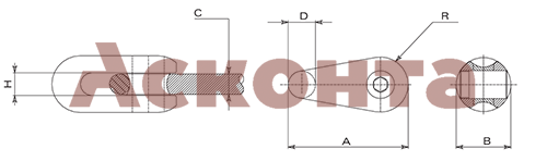 Соединитель троса лидера GFT010 Tesmec до 13мм